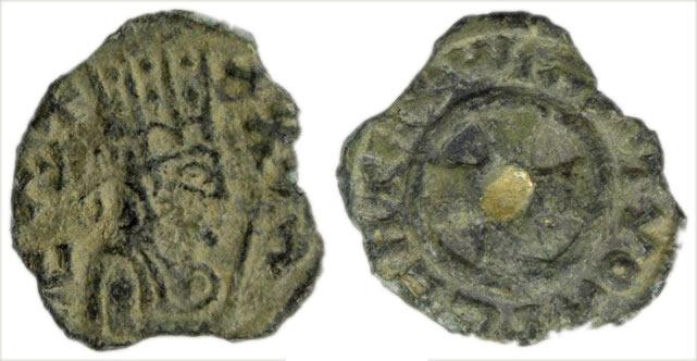 Moneda de bronce del siglo IV del Reino de Aksum