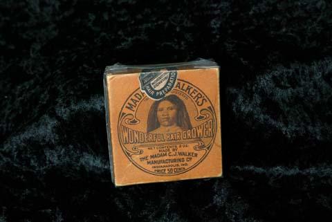 El Wonderful Hair Grower de Madame C.J. Walker como parte de la colección permanente del Museo de los Niños de Indianápolis